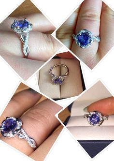 tanzanite ring Rings by Irina ring for her white gold ring wedding rings Wedding Diamond ring proposal ring perfect Wedding ring Engagement Ring Diamond halo ring Diamond Wedding Rings, Halo Diamond, Diamond Engagement Rings, Aquamarine Rings, Tanzanite Rings, Proposal Ring, Vintage Jewelry, Unique Jewelry, Rings For Her
