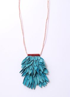 Hyorim Lee, necklace, leather and beads