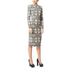 Alexander McQueen | Stained Glass Print Wool Crepe Dress | ModeWalk