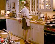 In the 1991 family drama Father of the Bride, Diana Keaton strategizes in a kitchen big enough for the entire wedding party. Could giant islands have started here? The Bride Movie, Father Of The Bride, Remodeling Mobile Homes, Home Remodeling, Home Decor Kitchen, Kitchen Design, Kitchen Ideas, Movie Set Decor, Netflix