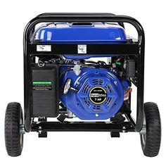 DuroMax Dual Fuel Portable Watt Gas or Propane Powered-Electric Start- Camping & RV Ready, 50 State Approved,Blue and Black Best Portable Generator, Dual Fuel Generator, Portable Inverter Generator, Honda Generator, Home Emergency Kit, Four Stroke Engine, Electric Mountain Bike, Camping, A Food