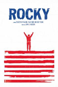 Rocky (1977) ★★★★ - Um filme que deve ser visto. Uma boa imagem da América e dos americanos dos anos 1970: pelo menos daquilo que se queria vender par ao mundo... Minimal Movie Poster by Daniel Norris