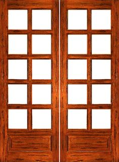 $585 Rustic-10-lite-P/B Interior Solid 1 Panel IG Glass Double Door #rustic
