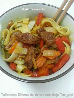 GastroCenicienta: Tallarines Chinos de Arroz con Soja Teriyaki