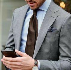 Save by hermie suit x в 2019 г. suit fashion, suits и mens f Light Grey Suits, Grey Suit Men, Gray Suits, Brown Suits, Mens Fashion Suits, Mens Suits, Fashion Outfits, Men's Fashion, Casual Outfits