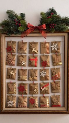Why settle for a generic store-bought Advent calendar when you can easily make your own? Why settle for a generic store-bought Advent calendar when you can easily make your own? Christmas Calendar, Christmas Countdown, Diy Christmas Gifts, Christmas Projects, Simple Christmas, Christmas Holidays, Christmas Decorations, Christmas Tables, Modern Christmas