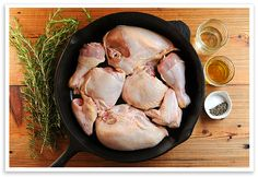 Simple Roasted Chicken - quick and easy way to roast chicken, cut it up - Cooking - Cast Iron Roasted Chicken, Easy Roast Chicken, Raw Chicken, Baked Chicken, Iron Skillet Recipes, Cast Iron Recipes, Duck Recipes, Chicken Recipes, Parmesan Pasta
