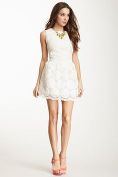 Gracia Sunflower Embroidered Dress on HauteLook