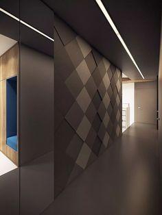 Dettaglio muro realizzata da pannelli in mdf