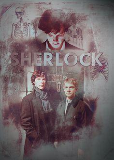 BBC Sherlock Holmes and John Watson Poster & Prints by curiousfashion