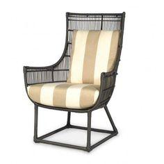 Palecek Verona Espresso Outdoor Lounge Chair