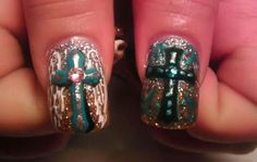 Thumb nail. Country themed nails. My ultimate favorite ones. Nails done by Paola♥
