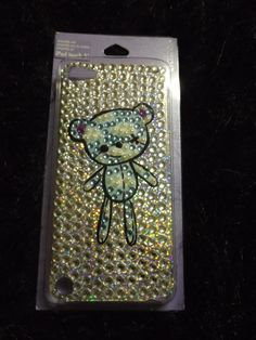 new bling teddy bear bejeweled  iPhone 5 hard cell phone cover pop culture trend