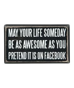 Look what I found on #zulily! 'On Facebook' Box Sign #zulilyfinds