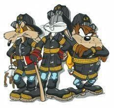 Loony tones dudes fights fire too Firefighter Paramedic, Volunteer Firefighter, Firefighter Tattoos, Fire Dept, Fire Department, Fireman Room, Firefighter Pictures, Cool Fire, Cartoon Pics