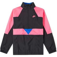 b03d2691d Buy the Nike Vapour Woven Jacket in Black, Pink & Hyper Royal from leading  mens fashion retailer END.
