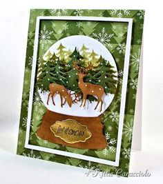 Forest Deer and Snow Globe