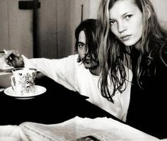 Johnny Depp and Kate Moss, photographedbyFrançois-Marie Banier in 1994.