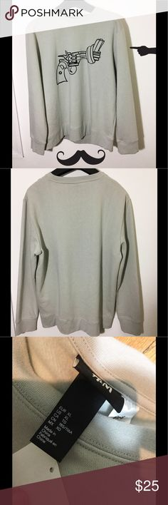 Non Violence Men Sweater XL Omg, this material is sooooo soft and it's beautiful 😍. This non violence fashionable sweater gives a message of peace and love. H&M Sweaters Crewneck