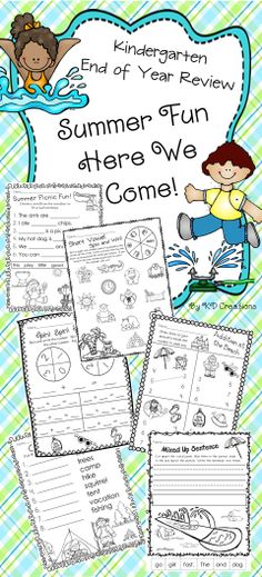 These fun, summer themed review activities will help you make sure your Kindergarten students have their important skills well in hand before going on vacation.