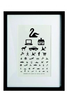 House Doctor - Ramme 33*44 cm. The Eye Chart
