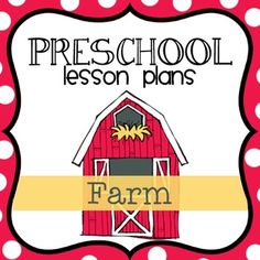 This Preschool Lesson A Weekly Plan: showing the activities for each day -A Daily Plan: explaining in detail the activities for the day -Read Alouds: a list of read aloud books based on the theme -Printables: any printables needed to complete the activities -Themed Songs: a new themed song for each day -Journal Prompts: for writing and math journals The times of the learning day covered: -Group Time & Small Group -Art -Table Time -Gross Motor Pre K Lesson Plans, Preschool Lesson Plans, Preschool Education, Preschool At Home, Preschool Curriculum, Preschool Themes, Preschool Farm, Kindergarten Worksheets, Homeschool