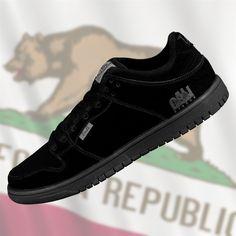 1c613535e3ba1 CALI Strong Hollywood Skate Shoe Black Black