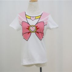 """Free shipping worldwide! Material: cotton Color: Pink One Size: Shoulder length: 35cm/13.78"""" Bust: 42cm/16.54"""" Sleeve length: 16cm/6.3"""" Clothes length: 58cm/22.83"""" You can get the blue Sailor Moon version <a href=""""http://spreepicky.storenvy.com/products/6112204-harajuku-sa..."""