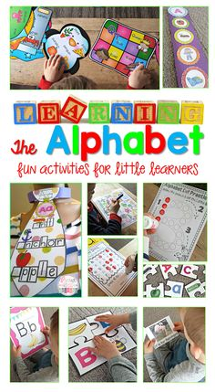 Learning the Alphabet - Letter activities to help children develop their phonemic awareness.