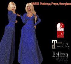 68e5e65251cc Fantasy blue CRYSTAL Blue Crystals, Formal Dresses, Fantasy, Second Life,  Clothes,