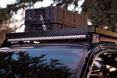 Nice roof rack and LED lights on this Toyota Tacoma