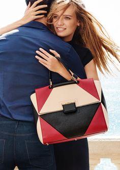 Ine Neefs and Aurelien Muller with handbag star in Furla spring-summer 2016 campaign
