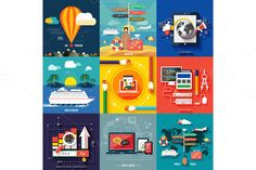 Check out Icons set of traveling and planning by robuart on Creative Market