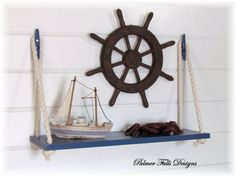 Swing Rope Shelf / Nautical Nursery / Beach by PalmerFallsDesigns $48 Etsy