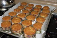 Use canning lids as cupcake/muffin tin replacement. Bake more at once.