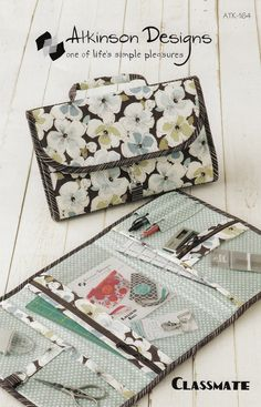 Travel organizer and zip pouch Classmate Sewing Pattern Atkinson Designs 164 by Dragonfly realm