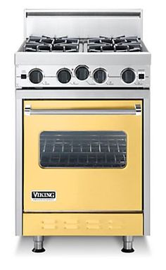 Classic 24 Inch Four Burner Gas Range - Viking.  Cool colors.