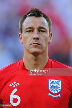 John Terry lines up for the national anthems prior to the 2010 FIFA World Cup South Africa Group C match between Slovenia and England at the Nelson Mandela Bay Stadium on June 2010 in Port. Get premium, high resolution news photos at Getty Images England Football Players, Football Team, England National Team, John Terry, Soccer World, National Anthem, Fifa World Cup, Lineup, England