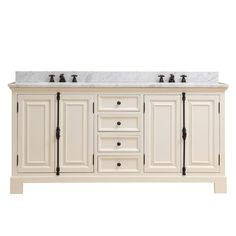 """Freemont 72"""" Double Bathroom Vanity Set with Faucets"""