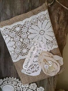 Burlap Dollar Dance Bridal Money Bag Rustic Wedding Country Barn Boho Bride