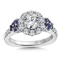 - Diamond and Blue Sapphire Halo Engagement Ring Mounting in White Gold with Platinum Head ct. Sapphire Diamond Engagement, Platinum Engagement Rings, Engagement Ring Styles, Antique Engagement Rings, Halo Diamond, Diamond Rings, Oval Engagement, Engagement Rings Canada, Engagement Ring Buying Guide