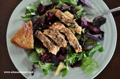 Chicken Piccata salad with gluten free dill bread: recipe to follow on the bread, but the chicken served with our Oolala Lentils and Kickin' Kale is an all-around winner of a meal.  Packed with protein and flavor, awesome for healing! #highproteinmeals #toothfood #altmandental www.toothfood.com