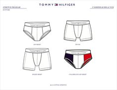 Tommy Hilfiger underwear designed by me for the underwear relaunch in Tommy Hilfiger, Underwear Pattern, Fashion Vocabulary, Fashion Design Drawings, Sweat Proof, Clothing Templates, Drawing Clothes, Mens Activewear, Diy Mask