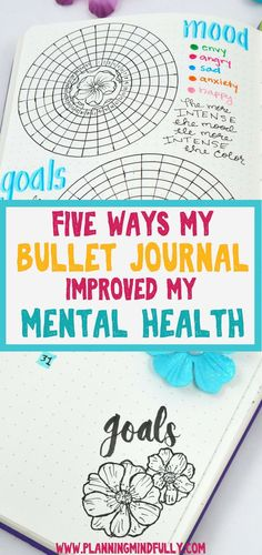Get tips, inspiration, and ideas to help improve your mental health with your bullet journal or planner!