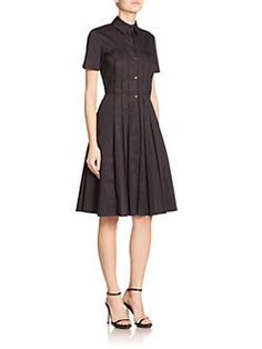 Jason Wu - Pleated Cotton Shirtdress $1,295.00