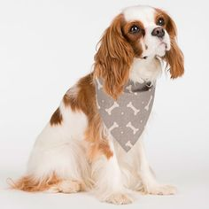 Mutts and Hounds Linen Bones Neckerchiefs Heather