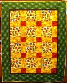 One of our kit quilts, replete with cheery tropical fish.