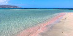 Pinker Sandstrand von Elafonisi auf Kreta