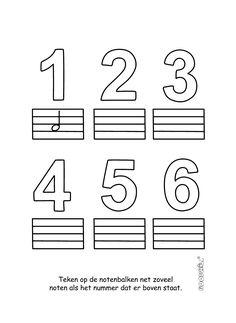 Muzieknoten tellen en tekenen