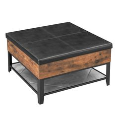 coffee table ottoman - Google Search Ottoman Table, A Table, Coffee Table With Storage, Large Furniture, Engineered Wood, Cocktail Tables, Wood Species, Industrial Style, Living Spaces